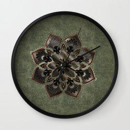 Wonderful noble mandala design Wall Clock