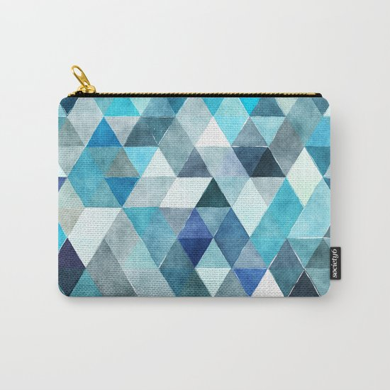 Retro Triangles Pattern 01 Carry-All Pouch