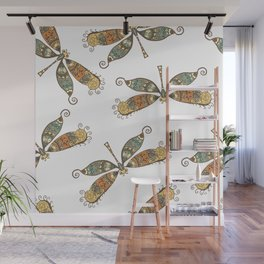 Dragonfly Pattern Wall Mural