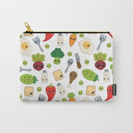 Cute Kawaii Food Pattern Carry-All Pouch