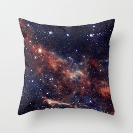 Vermilion Nebula Throw Pillow