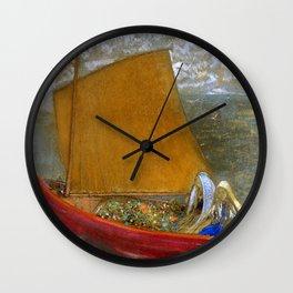 "Odilon Redon ""La Voile jaune (The Yellow Sail)"" Wall Clock"