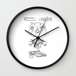 64 Controller Patent Wall Clock