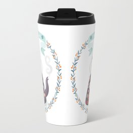 Tea Time Floral Tea Kettle Travel Mug