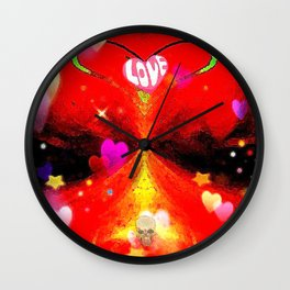 """""""Red Hot Love-a"""" Wall Clock"""