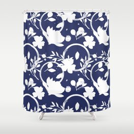 Blue And White Pattern No. 1 Shower Curtain