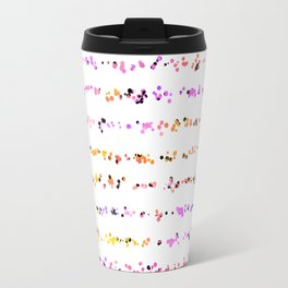 Paint Splatter Lines in Sunset Travel Mug
