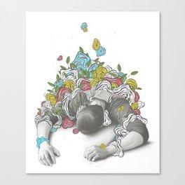 Downward Canvas Print