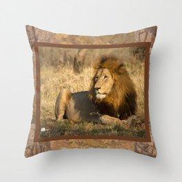 CW-002 Male Lion Throw Pillow