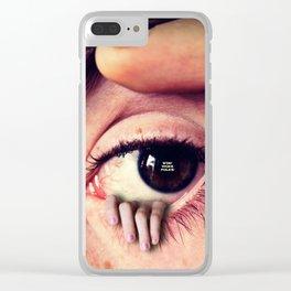 Stay Woke Folks Clear iPhone Case