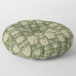 Afro Abstract Modern Print Floor Pillow