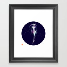 Diamond Lady Joker Framed Art Print