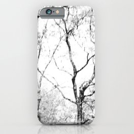 Black and white tree photography - Watercolor series #1 iPhone Case