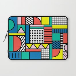 Memphis Color Block Laptop Sleeve