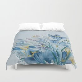 Lovely Spring Crocus Duvet Cover