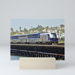 Train Spotting in Del Mar by Reay of Light Mini Art Print