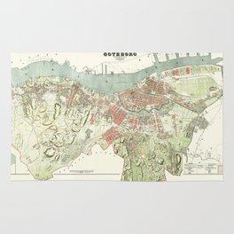 Map of Gothenburg - 1888 Rug