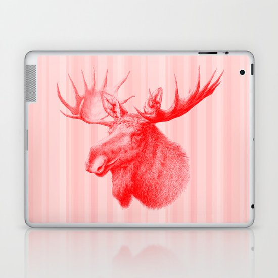Moose red Laptop & iPad Skin