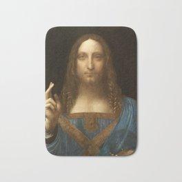 Salvator Mundi by Leonardo da Vinci Bath Mat