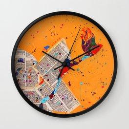 Letter Trail by Nadia J Art Wall Clock