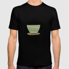 Coffee Break Black Mens Fitted Tee SMALL