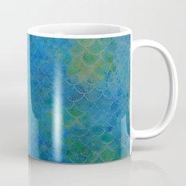 Handpainted Mermaid Dragon Scale Watercolor Coffee Mug