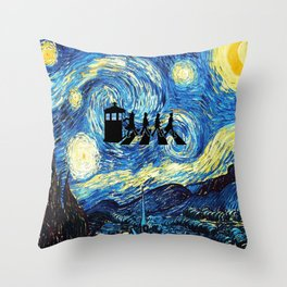 The Doctors Walking Of Starry Night Throw Pillow