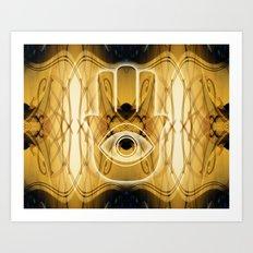 Hamsa Sign Of Protection Art Print
