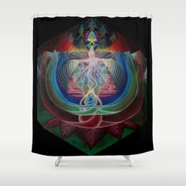 Light Flower Shower Curtain