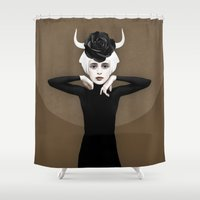 ruben Shower Curtains featuring Sever by Ruben Ireland