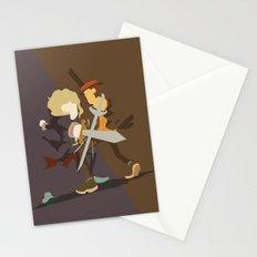 Professor Layton - Anton VS Layton Stationery Cards