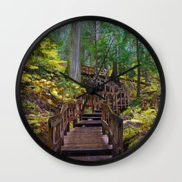 Giant Cedars Boardwalk in British Columbia, Canada Wall Clock