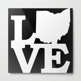 Ohio Pride USA State Love Map Metal Print