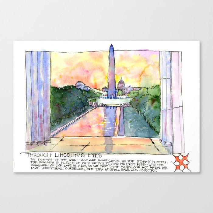 Canvas Lincoln Tech >> Through Lincoln S Eyes Washington Dc Canvas Print By