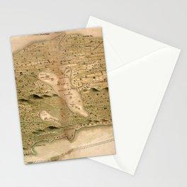 Map Of Bahamas 1700 Stationery Cards