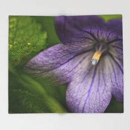 Purple Floral Sensuality Throw Blanket