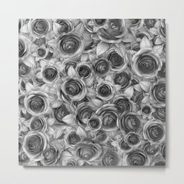 Faded Roses Metal Print