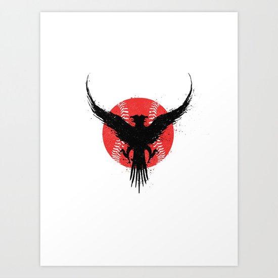 Eagle baseball Art Print
