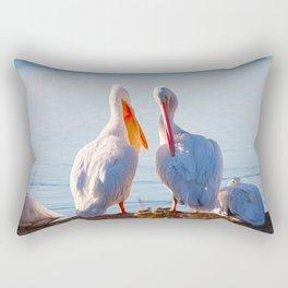 Pelican Wooing III Rectangular Pillow
