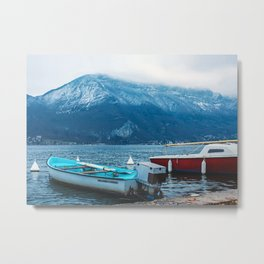 Boats On Annecy Lake Metal Print
