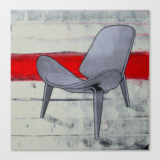 redline chair 01 Canvas Print