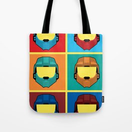 Warhol's Red vs Blue Tote Bag