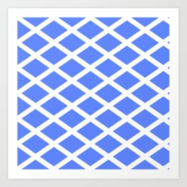 abstraction from the flag of scotland. Art Print