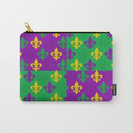 Mardi Gras Fleur-de-Lis Pattern Carry-All Pouch