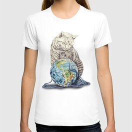In which our feline deity shows restraint  T-shirt