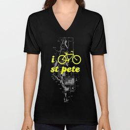 I Bike St. Pete Unisex V-Neck