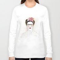 frida kahlo Long Sleeve T-shirts featuring Frida Kahlo  by Marttala