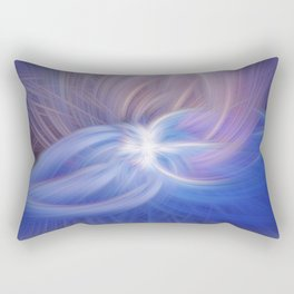 A Winter Night Twirled Rectangular Pillow