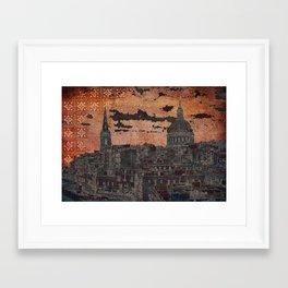 VALLETTA SUNSET SKYLINE Framed Art Print