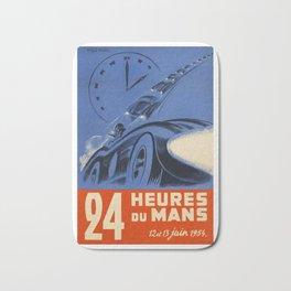 Le Mans 1954, 24hs Le Mans, 1954, original, vintage poster Bath Mat
